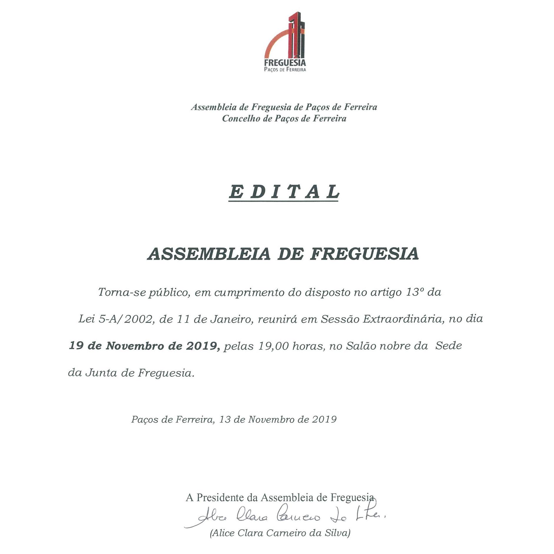 ASSEMBLEIA DE FREGUESIA